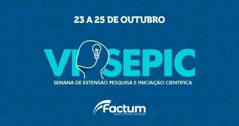 VI SEPIC, Semana de Extensão, Pesquisa e Iniciação Científica