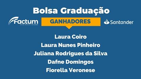 Ganhadores Bolsa Graduação